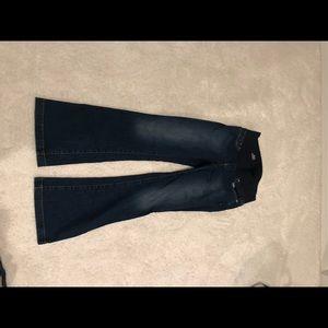 Gap Long & Lean Maternity Dark Wash Jeans Sz 10L